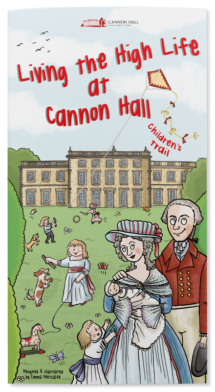 Living the High Life at Cannon Hall illustrated children's trail by Emma Metcalfe front cover