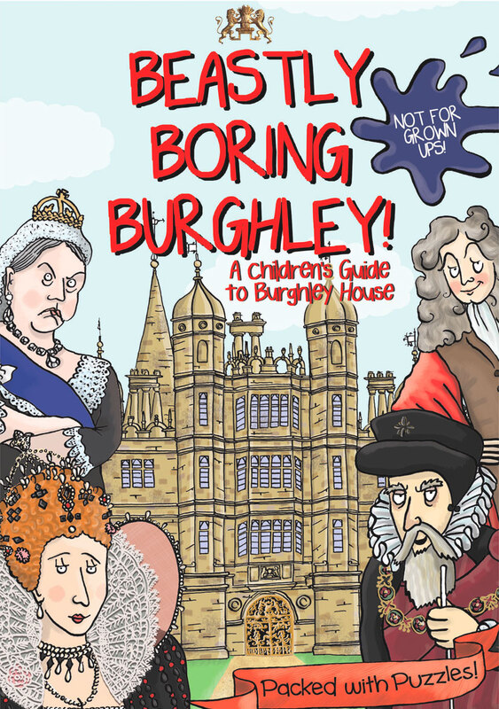 Front cover illustration from Beastly Boring Burghely illustrated children's guidebook by Emma Metcalfe