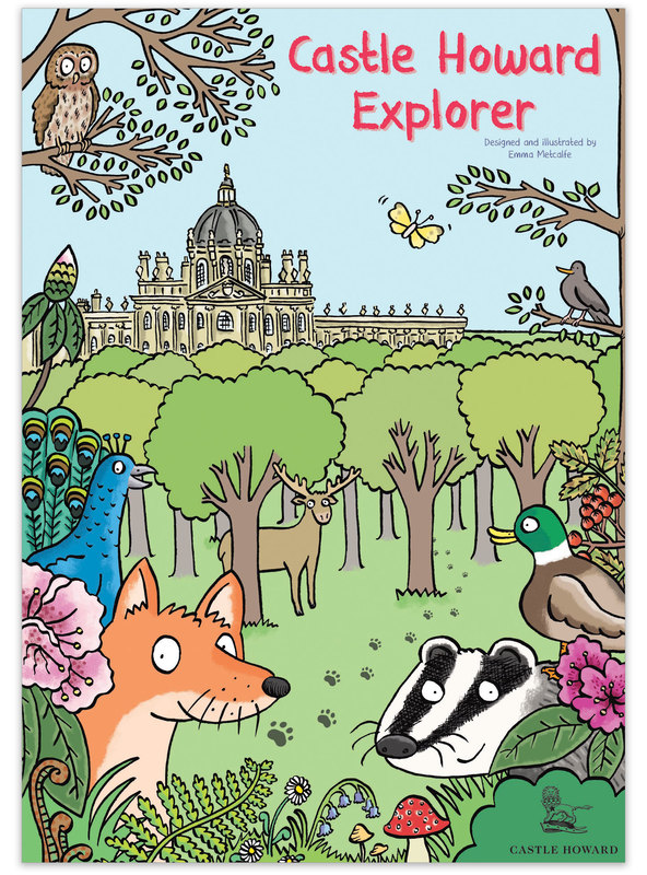 Holly Hedgehog's Hughenden Adventure Map children's illustrated trail front cover by Emma Metcalfe