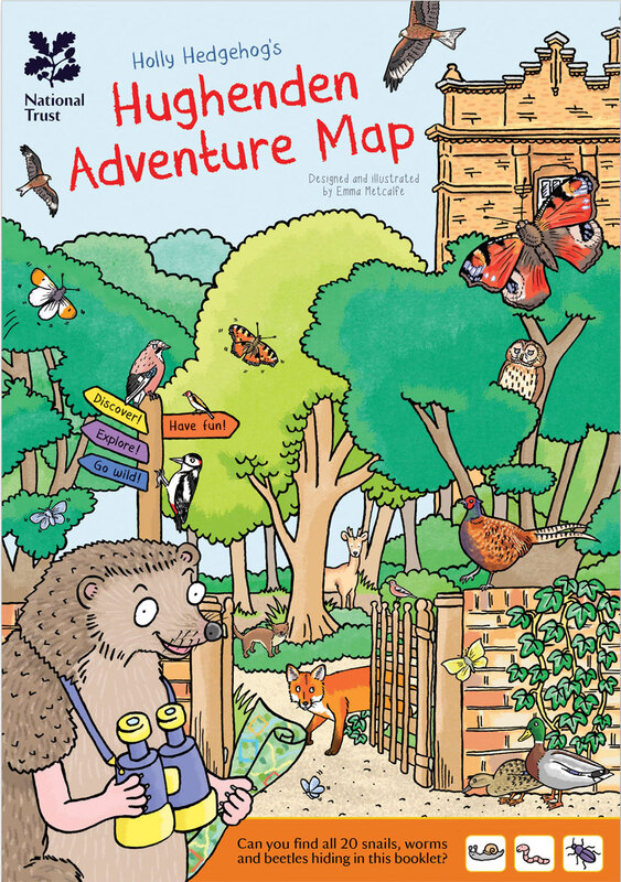front cover illustration of Hughenden Adventure Map children's trail leaflet